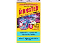The monster tickets x3