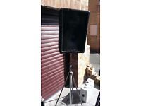 2 x Speakers (150W) + 2 x Stands + Amplifier + microphones - Charity Donation Only