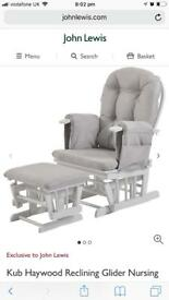 WANTED- white & grey nursing chair & footstool