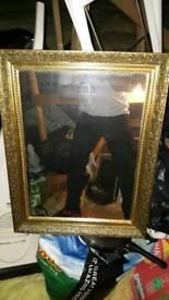 Beautiful guilt frame mirror