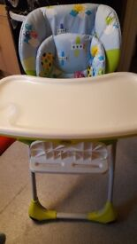 Used Chicco Polly Highchair. Excellent condition