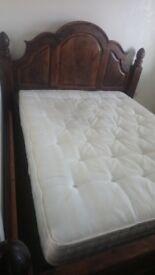Solid wood super king bed frame
