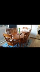 Dining Table and 6 Chairs - good condition
