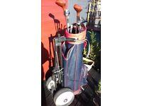 Golf Bag Clubs & Trolley