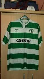 Original Umbro 1988 Glasgow Celtic centenary football top