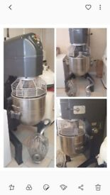 Industrial mixer . 80 litre with whisk , hook and beater