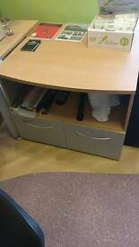 Filing cabinet / draft table office furniture