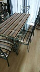 REDUCED! Dining table and chairs