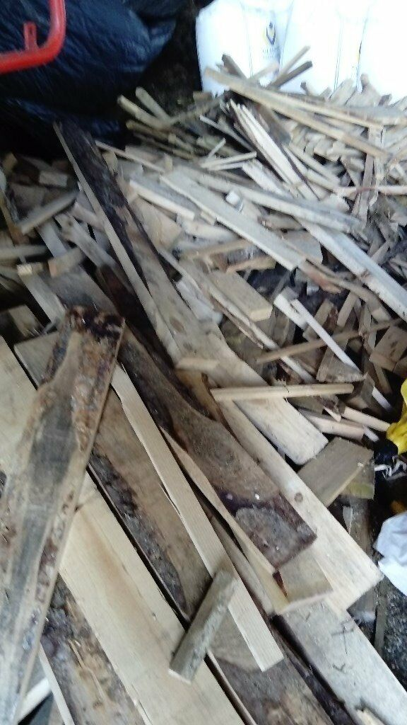 massive amount of timber offcuts