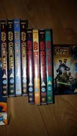 STAR WARS CLONE WARS DVDs