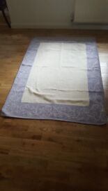 Lilac and off white rug, £30 ono