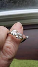 Tru diamond ring size p