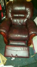 Italian leather armchairs