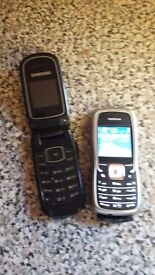 Samsung phone and nokia phone