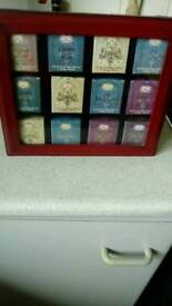 Wooden miniature assorted tea box