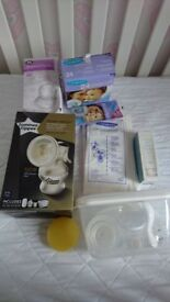 Tommee tippee manual pump & breastfeeding bundle
