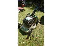 Petrol lawnmower. Briggs and Straton engine. Professional model