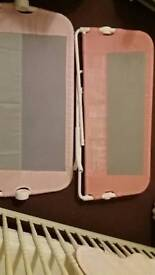 Pink lindam bedguard and spare guard