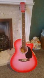 Pink Swift Acoustic Guitar