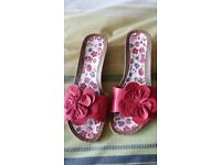 Next pink wedge sandals size 8