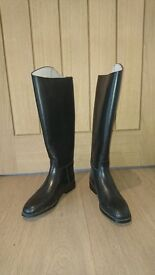 Ladies Regent Long Leather Riding Boots New, size 4