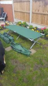 3 X Folding Camp Beds