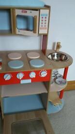 Child's Wooden Toy Kitchen