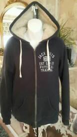 Jack Wills fur lined hoodie size 12