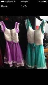 X 2 girls dresses