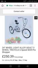 Adult 3 wheeled tricycle