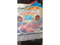 white Christmas nat Cole and dean martin vinyl and Elvis gi blues records