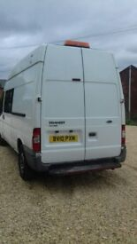 2010 8 seater crew cab van, good condition, 12 months mot