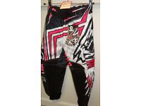 wulfsport race pants motocross motox quad pink size 22 approx age 5-6 junior kids youth