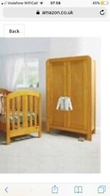 Mamas and Papas Vico nursery set, wardrobe; cot bed and chest of drawers/changing unit
