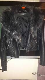 Quiz faux leather jacket