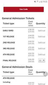 Mint Festival ticket x 2