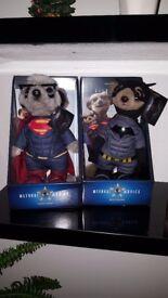 Batman and Superman Meerkat toys limited edition