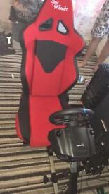 Open wheeler racing setup with g29