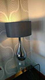 Lovely large table lamp in silver