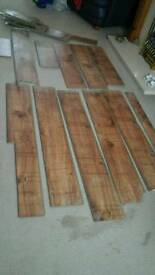 Free Stuff - Used Bathroom Quality Laminate Click Board Wood Effect - Good Condition