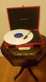 Crosley Cruiser Retro Vinyl Record Player Turntable Red