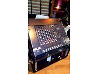 Monitor Mixer - Bespoke 8ch / 3 way splitter with Studiomaster 8ch mixer in flight case