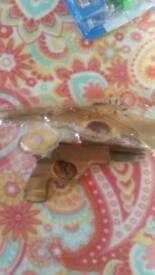 NEW..Office fun elastic band shot gun and hand gun