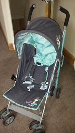Mickey mose stroller. Comes with cosy toes and rain cover. Comes from smoke and pet free home.