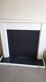 white fire surround with floor goodcondition only £20.00