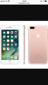 iPhone 7 Plus rose gold