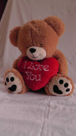 Big soft cuddly teddy bear, H 65 cm