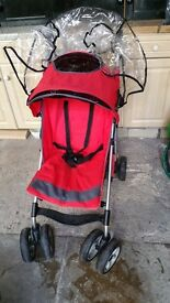 Red chicco buggy/pushchair