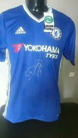 Diego Costa signed Chelsea shirt 16/17 season PLC with Coa