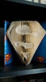 Superman book fold